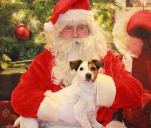 JG alum Jackson telling Santa his wishes