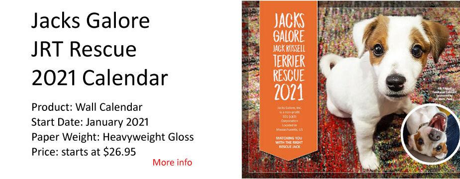 Jacks Galore Calendar for 2021